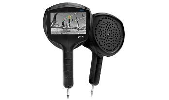 FLIR Si124 音響カメラは、圧縮空気の漏れ、部分放電、コロナ放電を検知画像