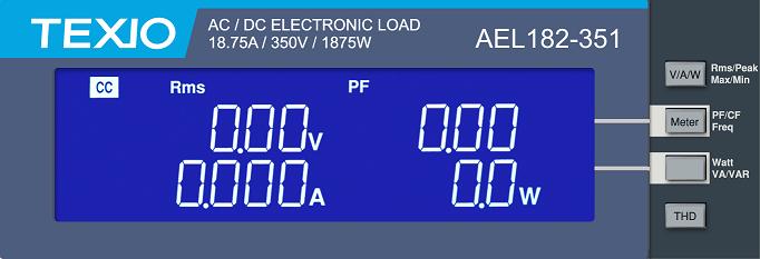 株式会社テクシオ・テクノロジー 大容量電子負荷装置 AEL 4項目を同時画像